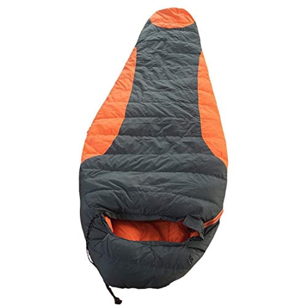 シャンパン洞窟誰がCUBCBIIS 屋外用多機能で便利な軽量、大人&子供用防水 - キャンプ用品寝袋 (Color : オレンジ)