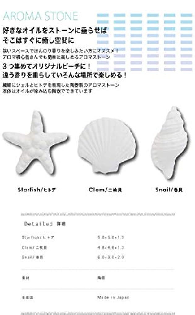 聖なる温かいクラブシーブルー アロマストーン 貝殻(クラム)