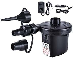 電動エアーポンプ 電動ポンプ 空気入れ・空気抜き両対応 Ninonly 車載用/家庭用 空気ポンプ 3種類ノズル付き エアベッド エアソファ エアーマット 圧縮袋 浮き輪 プールなどに適応 日本語説明書付きPSE認証