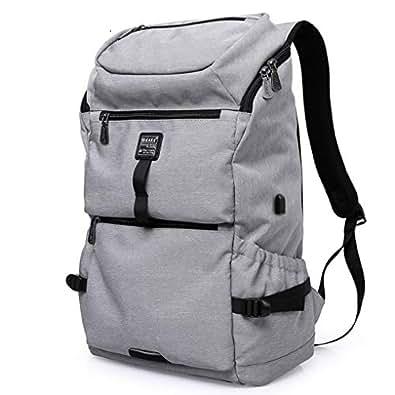 ビジネスリュック リュックサック USB充電ポート付き 防水ナイロン オックスフォードクッション付き 13インチPC収納可 メンズ ブリーフケース 男女兼用 通学 通勤 出張 旅行鞄 A4書類鞄