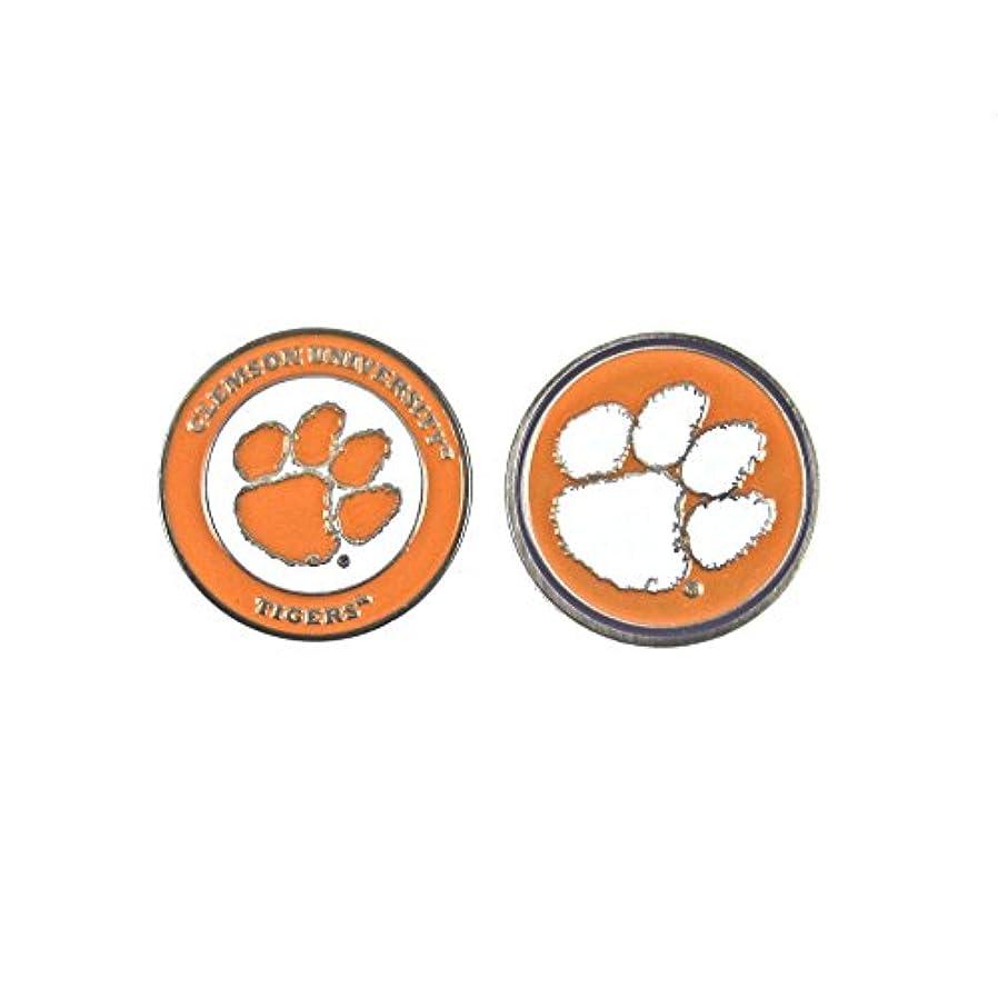 毎年パンチ付添人Clemson Tigers両面ゴルフボールマーカー