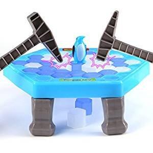 IMZ保存ペンギンCrashed Ice Breakingゲーム、ペンギントラップパズルテーブルおもちゃ、Knockアイスキューブブロックバランスボードゲームforファミリーパーティー
