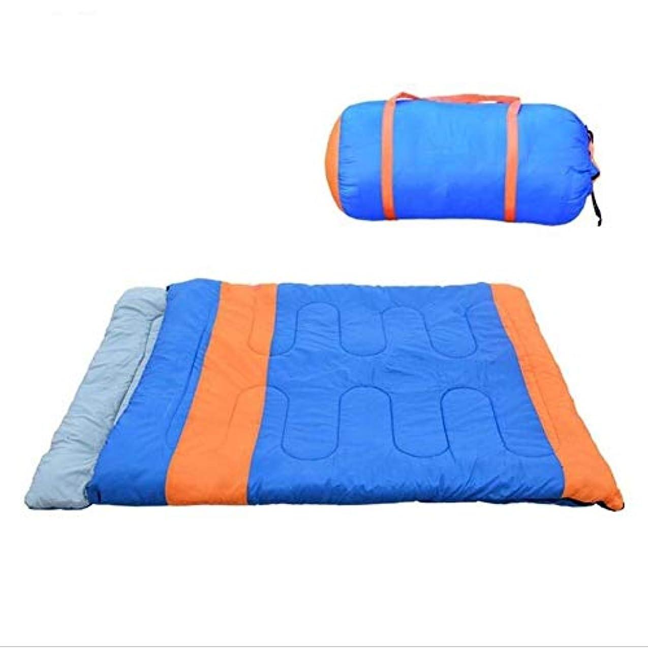 物質添加剤主張MGIZLJJ 軽量の寝袋大人のための寝袋2つのキャンプ枕、防水軽量の2人の大人のための寝袋、バックパッキング、ハイキング、ボーナスキャリングバッグ