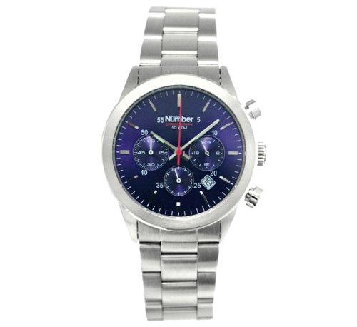 [ナンバー]Number 腕時計 クロノグラフ N01-0002-006 ネイビー×ステンレス メンズ [正規輸入品]