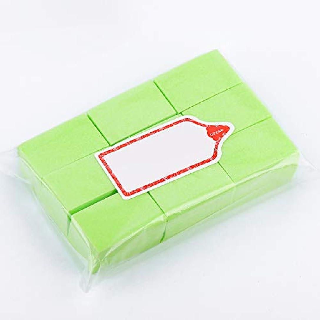 ミニチュアお茶オフLWBTOSEE ネイルワイプ コットンパッド 綿繊維 クリーニングパッド リムーバーワイプ 柔らかい 安全無毒 600枚入 全4色 (緑)