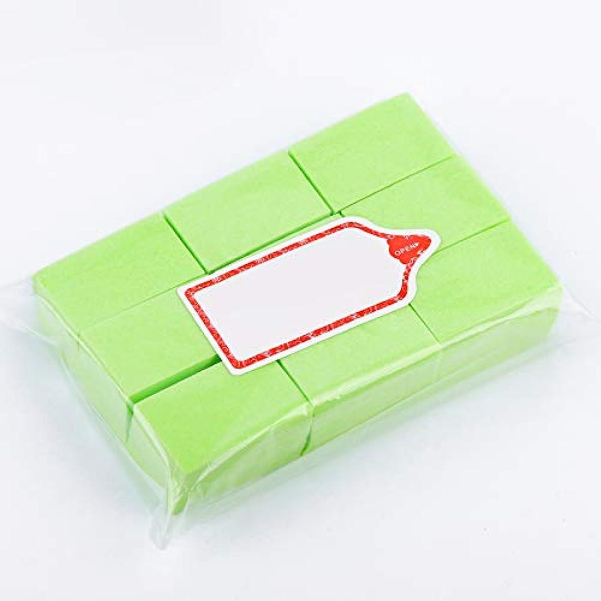 宣教師なくなる検体LWBTOSEE ネイルワイプ コットンパッド 綿繊維 クリーニングパッド リムーバーワイプ 柔らかい 安全無毒 600枚入 全4色 (緑)