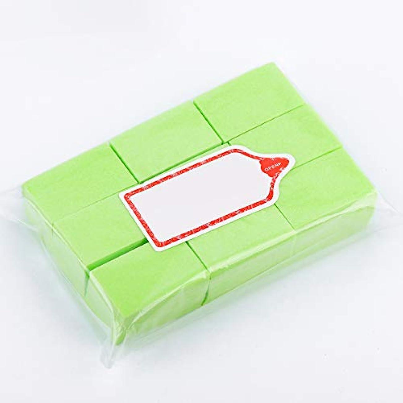 カビ掻くサイレントLWBTOSEE ネイルワイプ コットンパッド 綿繊維 クリーニングパッド リムーバーワイプ 柔らかい 安全無毒 600枚入 全4色 (緑)