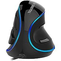 JTD 有線マウス エルゴノミクスマウス 縦型マウス 着脱式リストレスト 手/手首の痛みを軽減/腱鞘炎防止