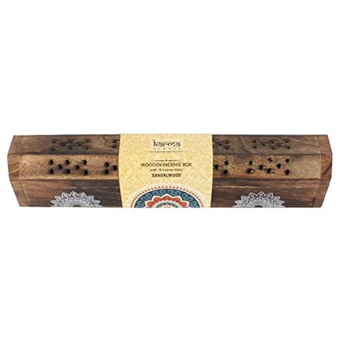 最も遠いジャム包帯Karmaラベンダーお香木製セット