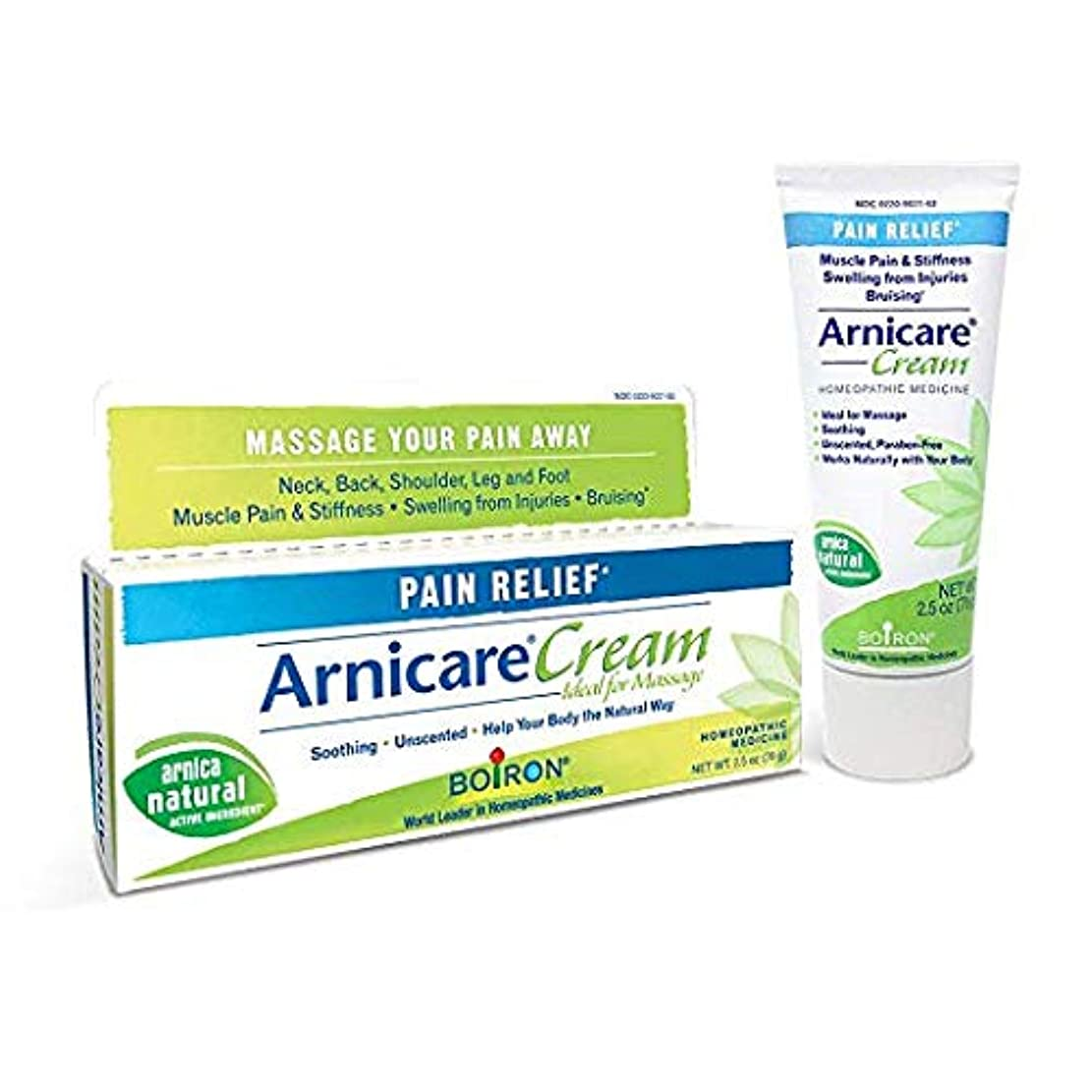 アウトドア悲鳴不利ボイロン アルニカクリーム Boiron Arnicare Cream 2.5 Ounces Topical Pain Relief Cream [並行輸入品]