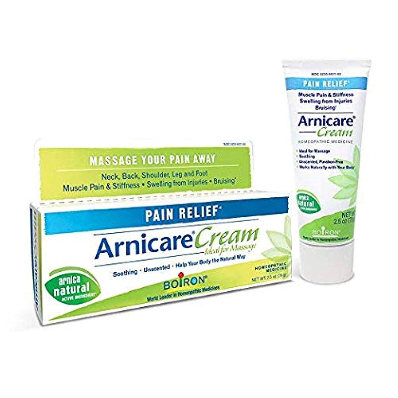 乱気流謙虚な滑り台ボイロン アルニカクリーム Boiron Arnicare Cream 2.5 Ounces Topical Pain Relief Cream [並行輸入品]