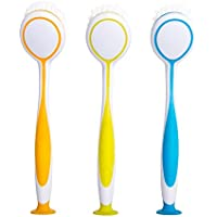 MR. SIGA キッチンブラシ Round Dish Brush, Size: Dia 5.5 x 25cm - Set of 3