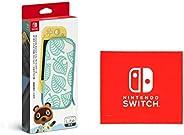 Nintendo Switch Liteキャリングケース あつまれ どうぶつの森エディション ~たぬきアロハ柄~(画面保護シート付き) (【Amazon.co.jp限定】Nintendo Switch ロゴデザイン マイ