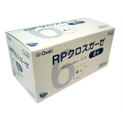 オオサキメディカル RPクロスガーゼ 6号 200枚入