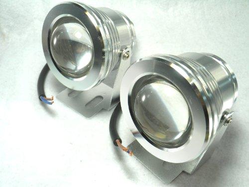 【SDMチップ】10W 6000K LED プロジェクター ライト DC12V 2個セット mo-9