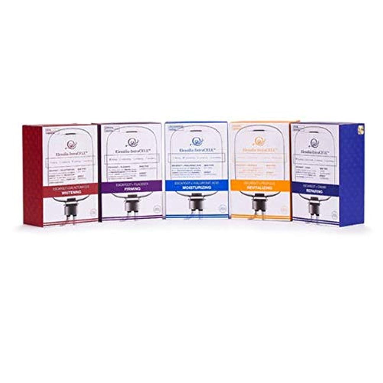 白いメタルラインパイル(エレンシルラ) Elensilia 韓国人気パック イントラセル シートマスク 100枚セット (並行輸入品)
