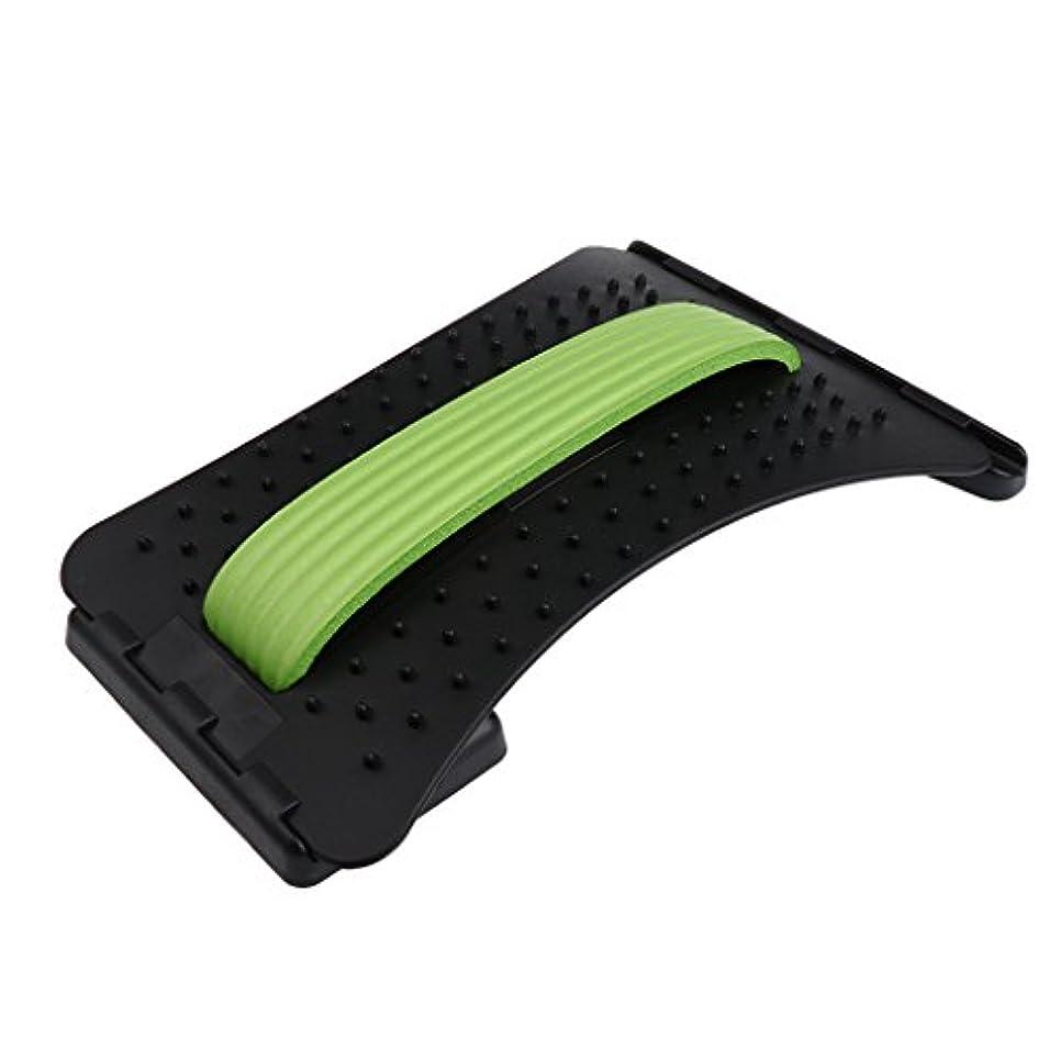 称賛動機コンバーチブルFenteer バックストレッチャー マッサージャー サポート 3色選べる - 緑