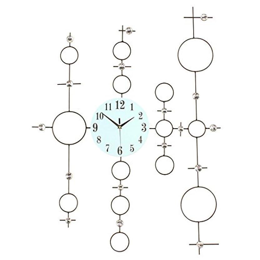 先祖住居であるメタルウォールクロック3D中空時計クリエイティブDIYガラスダイヤルクォーツウォールクロック (Color : BLACK)
