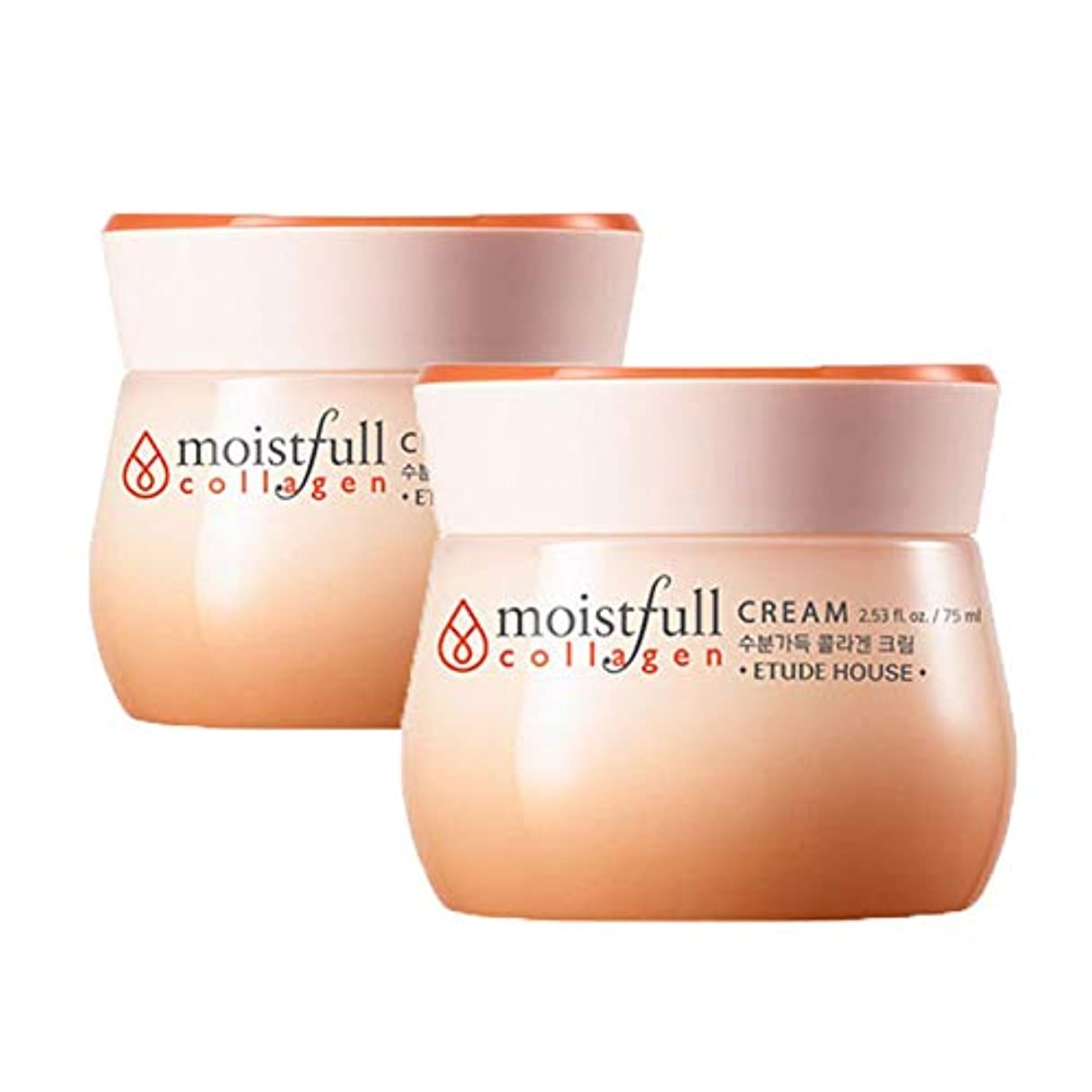 バッテリーミシンパン屋エチュードハウス水分いっぱいコラーゲンクリーム 75mlx2本セット韓国コスメ、Etude House Moistfull Collagen Cream 75ml x 2ea Set Korean Cosmetics [...