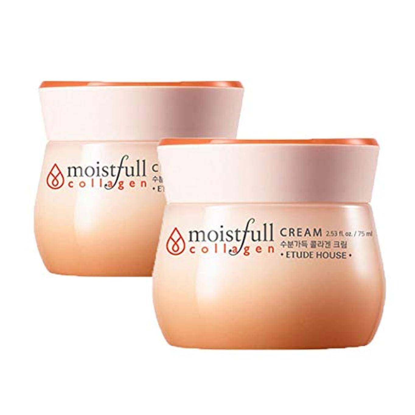 閃光寺院つかの間エチュードハウス水分いっぱいコラーゲンクリーム 75mlx2本セット韓国コスメ、Etude House Moistfull Collagen Cream 75ml x 2ea Set Korean Cosmetics [...