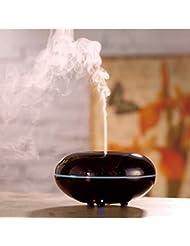 アロマエッセンシャルオイルディフューザー、クールミスト加湿器100ml 超音波純粋なエンリッチメントデラックス胚芽無料、簡単にホームオフィスの赤ちゃんのためにきれいに,Black