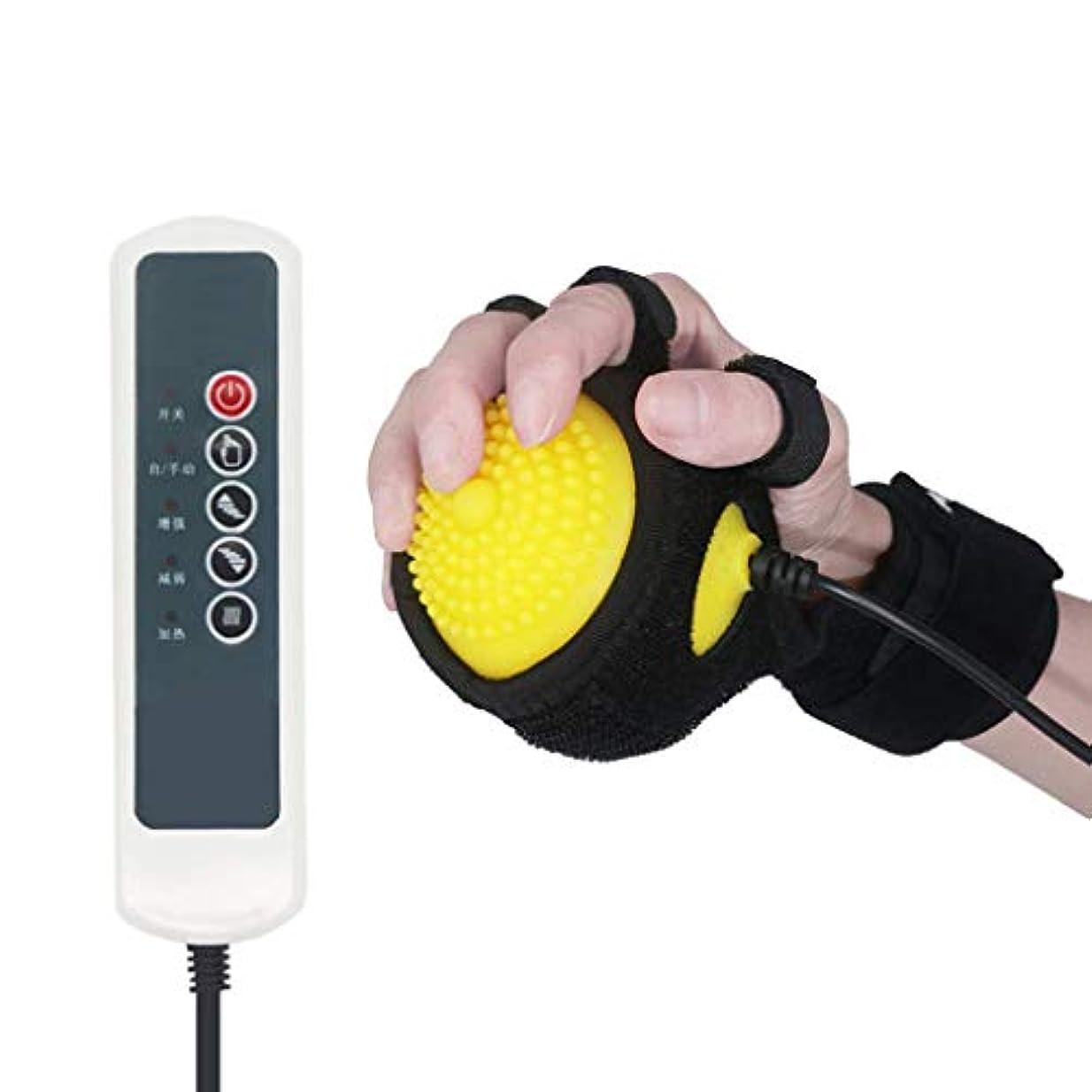 忍耐講堂セラフ電気ホット圧縮脳卒中片麻痺指回復マッサージリハビリテーション受動トレーニング指屈曲矯正療法ボール