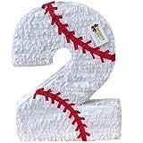 APINATA4U 大きな数字 2つのピニャータ 野球テーマ 野球パーティー 記念品