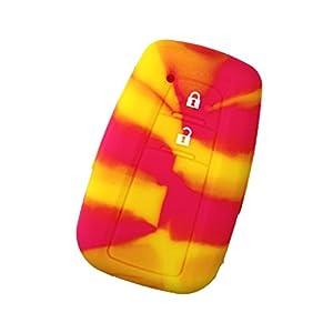 【AWESOME/オーサム】 シリコンスマートキーケース トヨタDタイプ ハワイアントロピカル ASLK-TD015