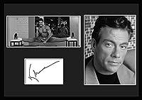 10種類! ジャン=クロード・ヴァン・ダム/Jean-Claude Van Damme /サインプリント&証明書付きフレーム/BW/モノクロ/ディスプレイ/3W (05) [並行輸入品]