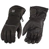 MilwaukeeレザーメンズGauntlet Heated防水レザー手袋with Touch Scr M ブラック 226001181894