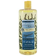 Dr. Jacobs Naturals Castile Soap Face & Body Wash, Peppermint, 946ml