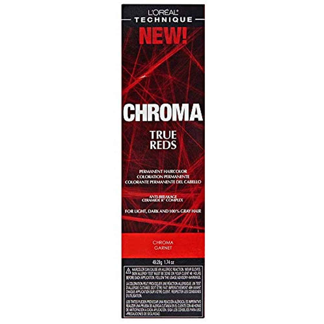 統計収入黒板L'Oreal Technique Chroma True Reds - Chroma Garnet - 1.74oz / 49.29g