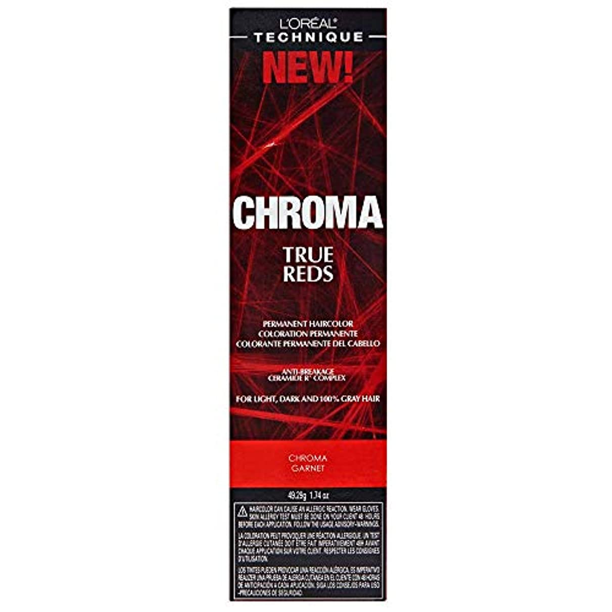 腕蜜ラインナップL'Oreal Technique Chroma True Reds - Chroma Garnet - 1.74oz / 49.29g