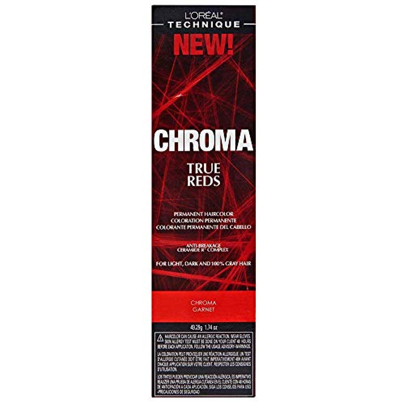患者スープ政治家のL'Oreal Technique Chroma True Reds - Chroma Garnet - 1.74oz / 49.29g