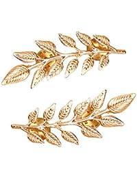 Vi.yo レディースブローチ 女性コサージュ ブローチピン 木の葉 合金製 レディース 人気 アクセサリー ギフト