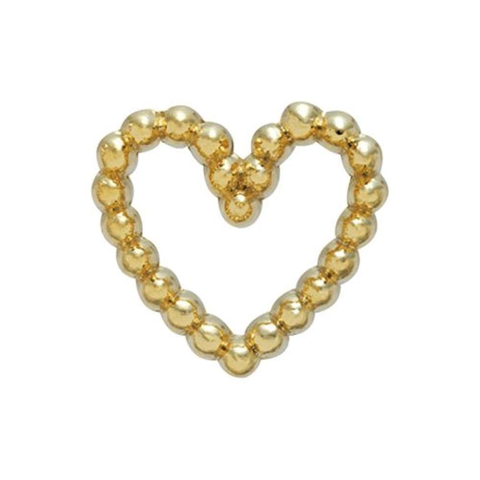 フリース最大化するファッションプリティーネイル ネイルアートパーツ ブリオンハートS ゴールド 15個