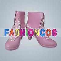 ★サイズ選択可★女性24CM UB020 VOCALOID ボーカロイド 白うさぎ 初音ミク Miku コスプレ靴 ブーツ