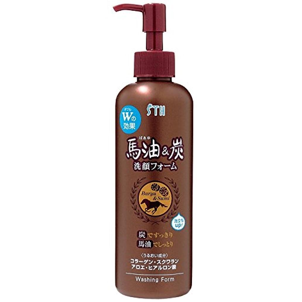 明らか禁止粗い馬油&炭 洗顔フォーム ポンプ 250mL