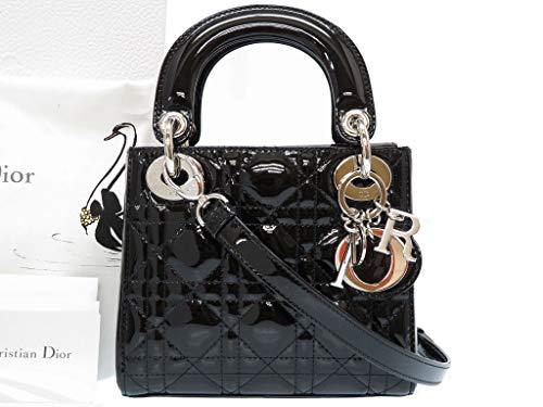 (ディオール)Dior レディディオール カナージュ ハンドバッグ パテントレザー レディース 0225 中古