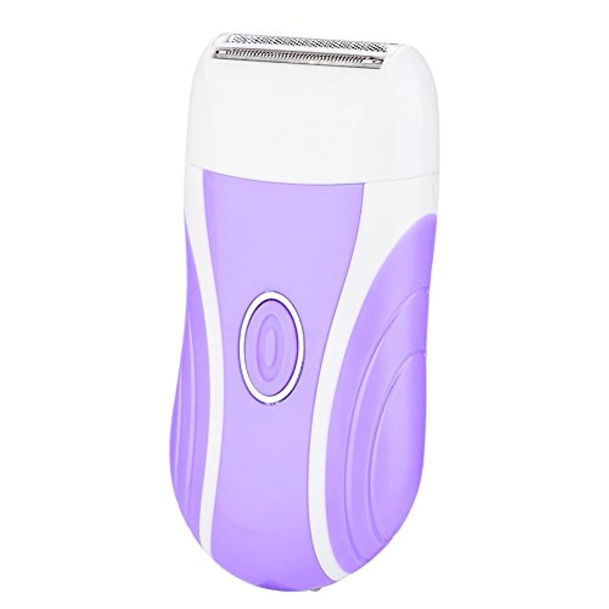 ピンエミュレーション割り込み女性の脱毛器、3 in 1 USBウェット/ドライ電気脱毛充電式シェーバー脱毛ネイル研削ドリルフェイシャルボディケアアーム&レッグ&ビキニ(紫の)
