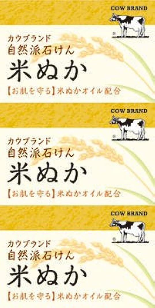 新しさ風が強い汚れた牛乳石鹸共進社 カウブランド 自然派石けん 米ぬか 100g×3個入×24点セット (4901525002899)
