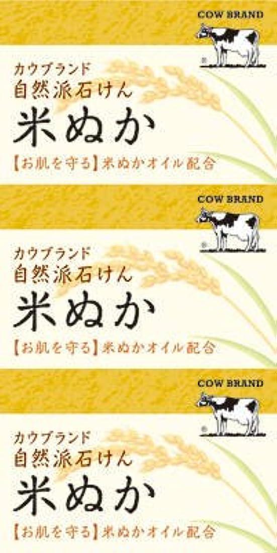 人事おとなしい不完全牛乳石鹸共進社 カウブランド 自然派石けん 米ぬか 100g×3個入×24点セット (4901525002899)