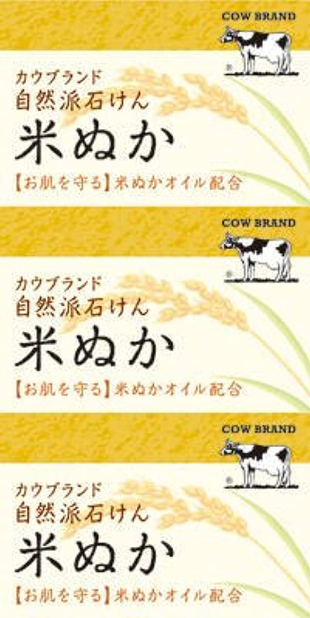 牛乳石鹸共進社 カウブランド 自然派石けん 米ぬか 100g×3個入×24点セット (4901525002899)