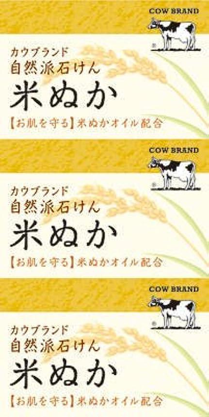 カッター組み立てる内陸牛乳石鹸共進社 カウブランド 自然派石けん 米ぬか 100g×3個入×24点セット (4901525002899)