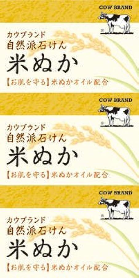 何十人も光のカーテン牛乳石鹸共進社 カウブランド 自然派石けん 米ぬか 100g×3個入×24点セット (4901525002899)