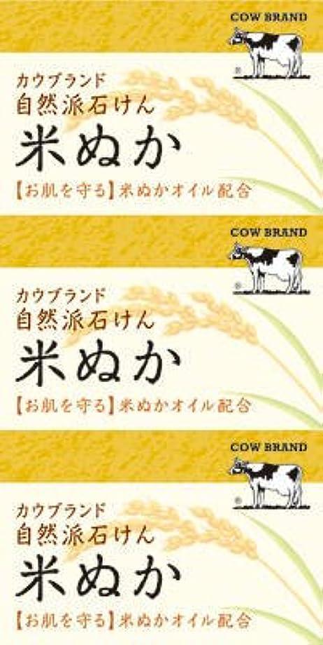 ドキュメンタリー黒願望牛乳石鹸共進社 カウブランド 自然派石けん 米ぬか 100g×3個入×24点セット (4901525002899)