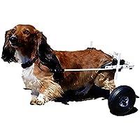 K9Carts 犬用 後肢 2輪 車いす 【 ホワイト S 小型犬 5.1~11kg】 スタンダード 軽量 振動軽減 愛犬の運動不足解消 後足の介護補助器具