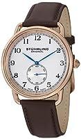 ストゥーリングオリジナル Stuhrling Original Men's 207.04 Classic Cuvette Swiss Quartz Rose Tone Brown Leather Watch 男性 メンズ 腕時計 【並行輸入品】