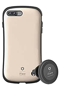 iPhone7 Plus ケース 耐衝撃 カバー iFace Duo Set 車載ホルダー カーマウント セット 正規品 / メタリック / ゴールド