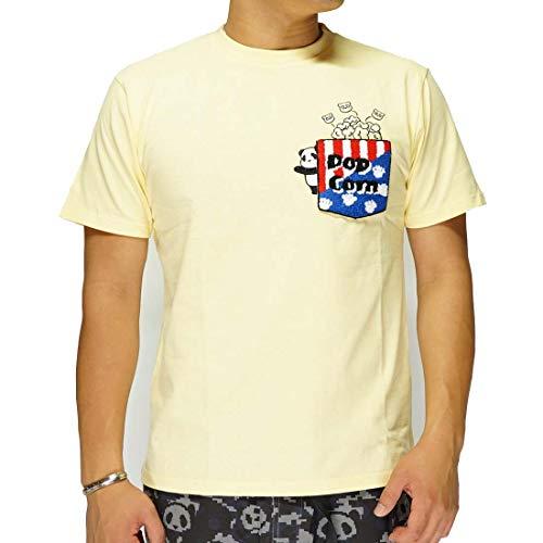 パンディエスタ PANDIESTA 熊猫 ポップコーンポケット Tシャツ/半袖/パンダ/メンズ/和柄/529561-3イエロー-XXL